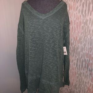 Free People Green Long Sleeve T-Shirt